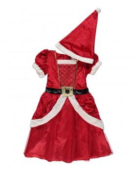 Много красива Коледна рокля с шапка