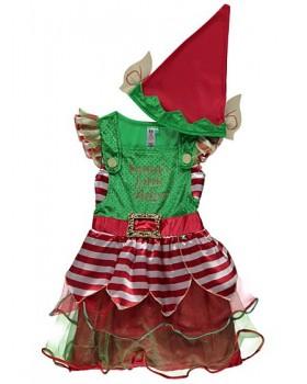 Много красива рокля на помощничката на Дядо Коледа-Елф