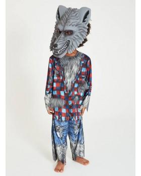 Костюм на Вълк/Върколак/ със звуков механизъм и маска