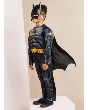 Прекрасен костюм на Батман с мускули и маска