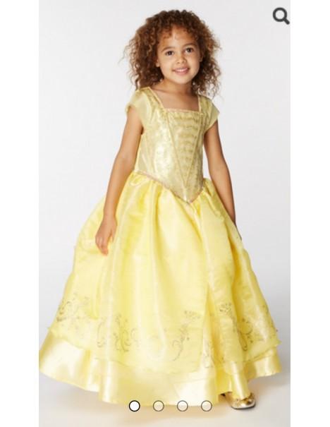 Уникална рокля на Бел от Красавицата с обръч и аксесоар за косата