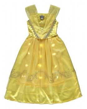 Приказна рокля на Бел от Красавицата и звяра със мелодия, светлини и аксесоар за косата