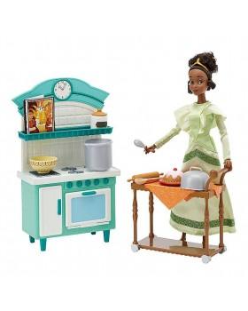 Оригинален Дисни комплект кукла Тиана и кухнята от ресторанта и с аксесоари