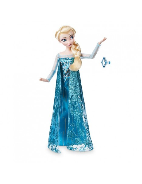 Нов модел оригинална Дисни кукла Елза от Замръзналото кралство с пръстен