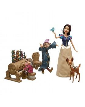 Оригинален Дисни комплект кукла Снежанка и Джуджетата с музикална стая и аксесоари