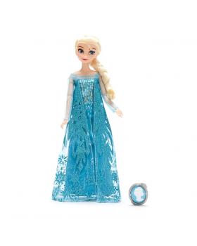 Оригинална Дисни кукла Елза от Замръзналото кралство с брошка за детето