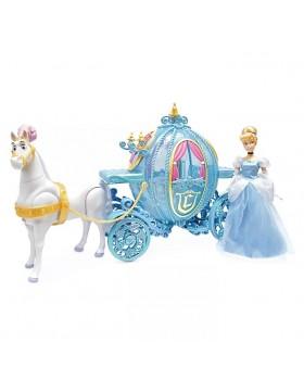 Оригинален Дисни комплект кукла Пепеляшка с кон и каляска