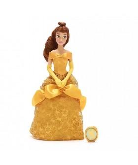 Оригинална Дисни кукла Бел от Красавицата и звяра с брошка