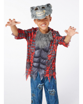 Прекрасен костюм на Вълк/Върколак/ със звуков механизъм и маска