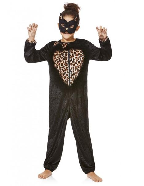Страхотен костюм на Котка с опашка и домино