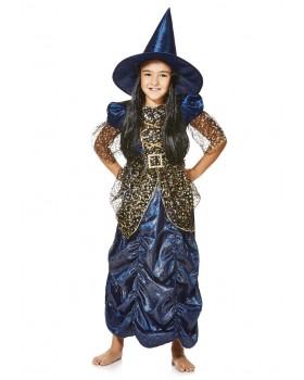 Рокля за Хелоуин на Вещица с невероятна шапка с коса