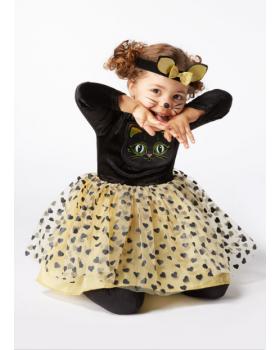 Прекрасна рокля Коте с диадема