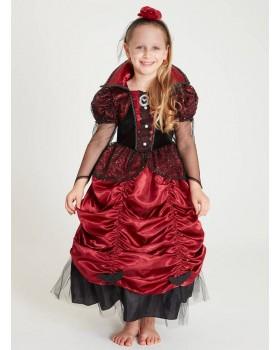 Детска рокля за Хелоуин Вампирка с обръч и диадема