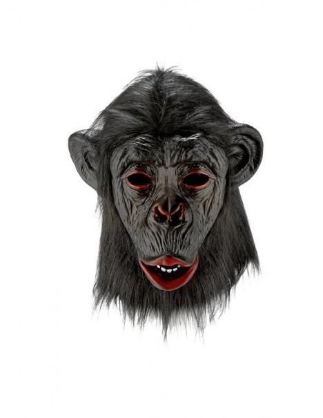 Латексова маска Маймуна /Шимпанзе/ за възрастни с козина