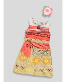 Карнавална рокля на Смелата Ваяна с аксесоар за косата