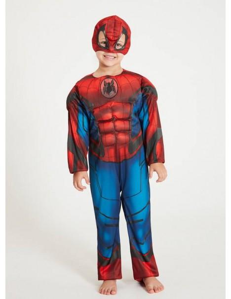 Костюм на Спайдърмен със светлини,мускули и маска