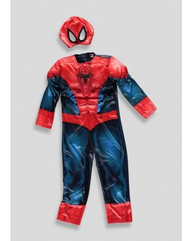 Страхотен костюм на Спайдърмен с мускули и маска