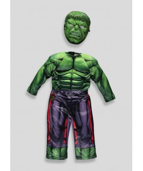 Прекрасен костюм на Хълк с мускули и маска