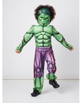 Страхотен костюм на Хълк с мускули и  маска