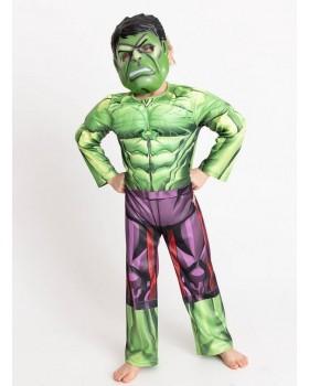 Много хубав костюм на Хълк с мускули и маска