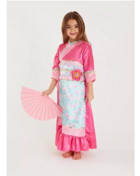 Страхотна рокля на принцеса Мулан с аксесоар ветрило