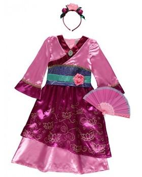Невероятна рокля на Мулан с ветрило и диадема