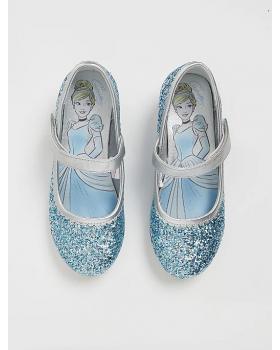 Детски брокатени обувки на Пепеляшка със светещи токчета